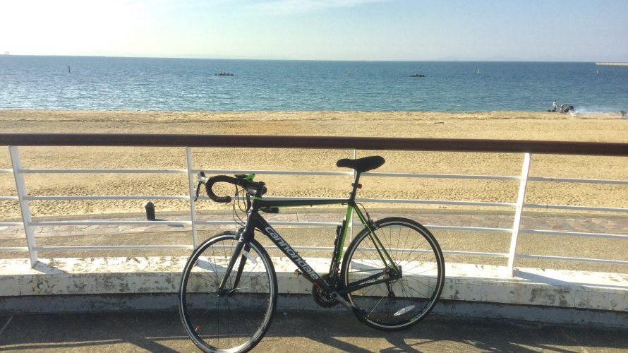 ロードバイクで二色の浜へ行ったときの写真